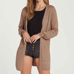 New with tags billabong worth it Striped  cardigan